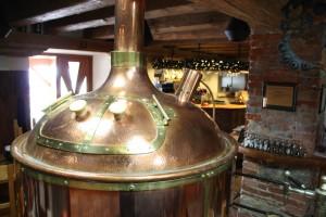 Měděná varna na pivo